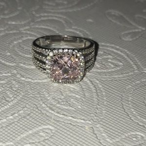Genuine Pink Topaz Ring